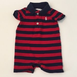 Ralph Lauren Boys Striped Romper - 3 months
